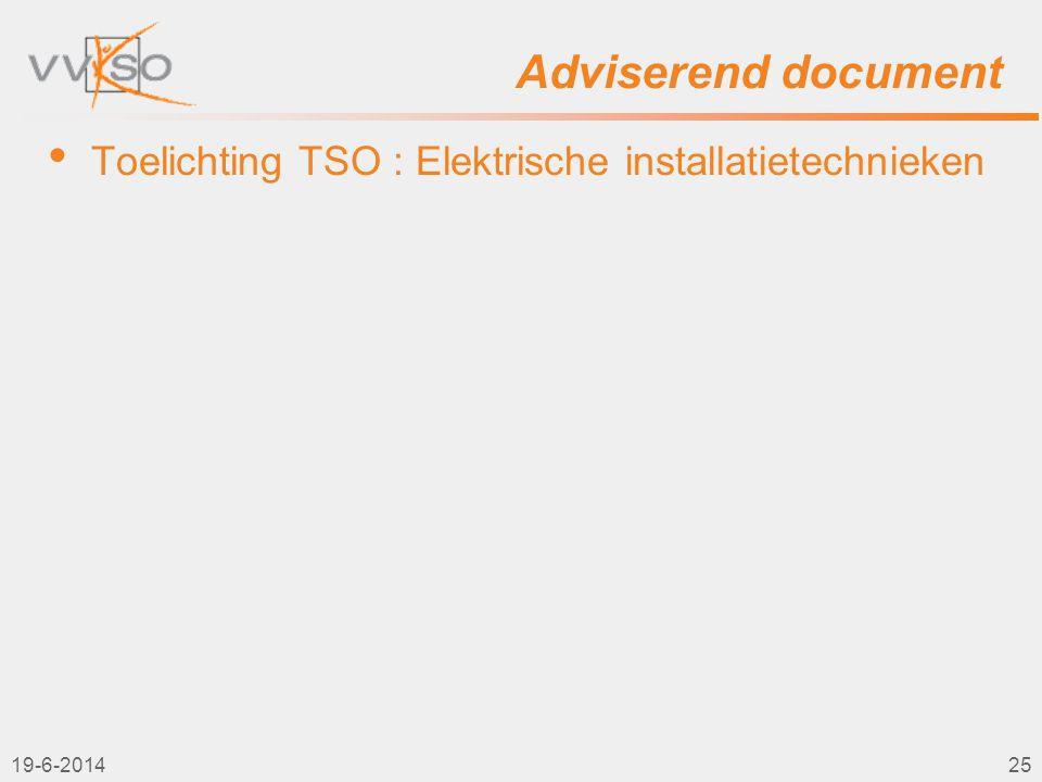 2-4-2017 Adviserend document Toelichting TSO : Elektrische installatietechnieken 2-4-2017