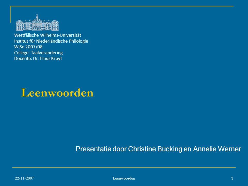 Presentatie door Christine Bücking en Annelie Werner