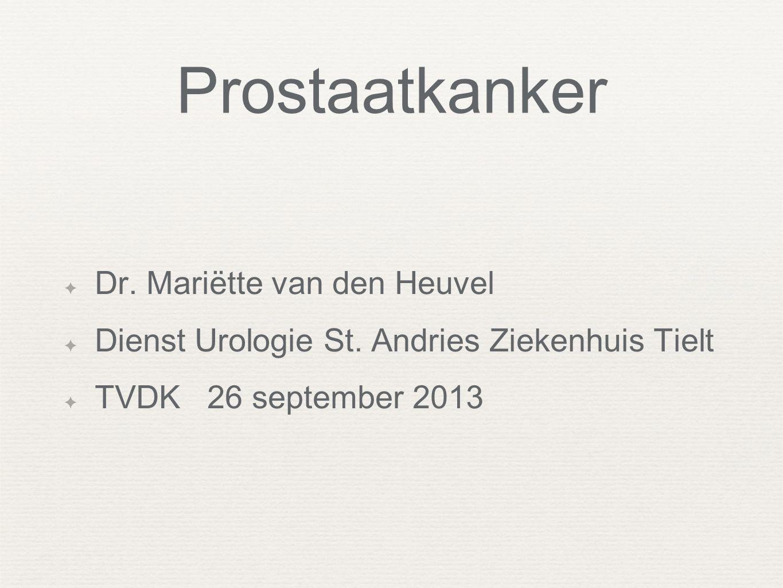 Prostaatkanker Dr. Mariëtte van den Heuvel