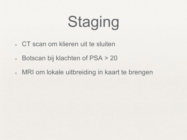 Staging CT scan om klieren uit te sluiten