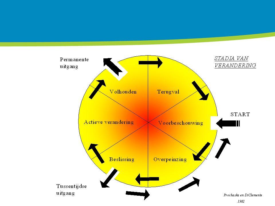 In het draaiboek staat de uitelg over stadia van gedragsverandering