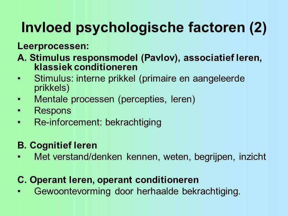 Invloed psychologische factoren (2)