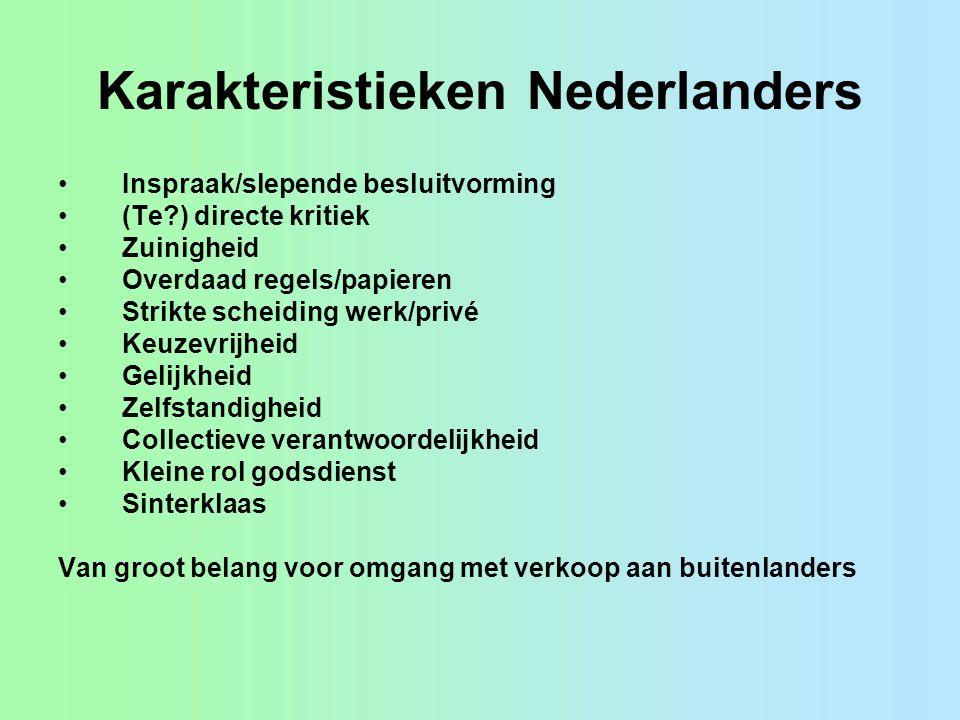 Karakteristieken Nederlanders
