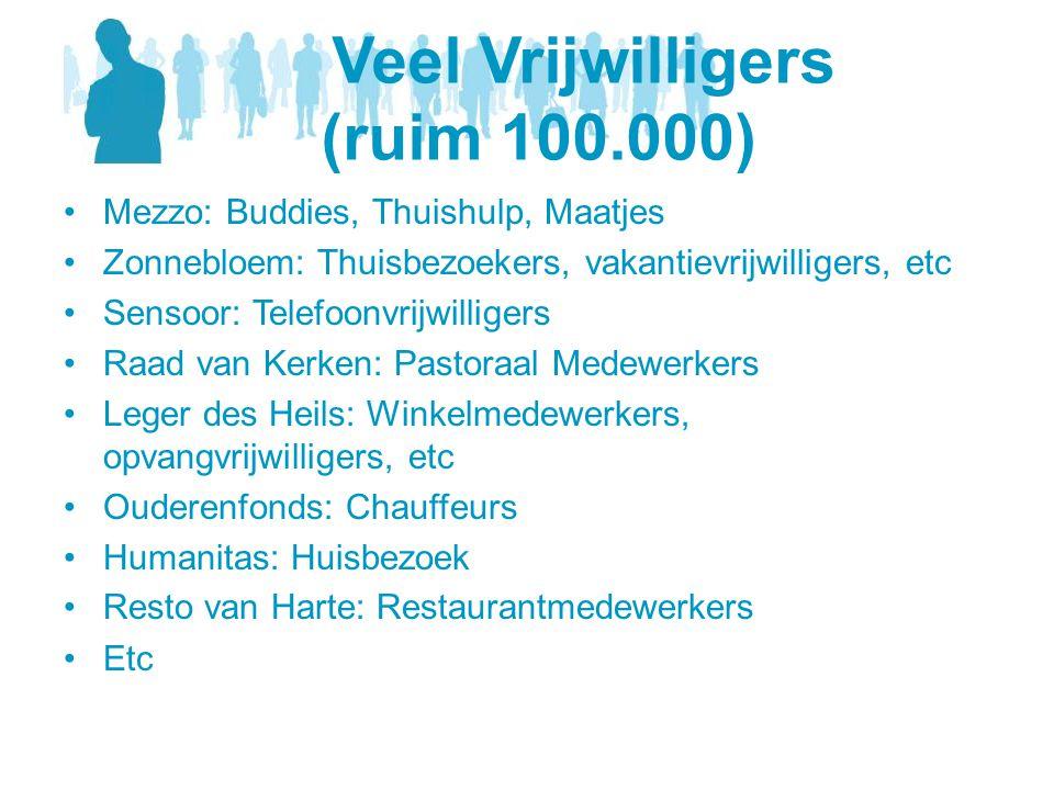 Veel Vrijwilligers (ruim 100.000)