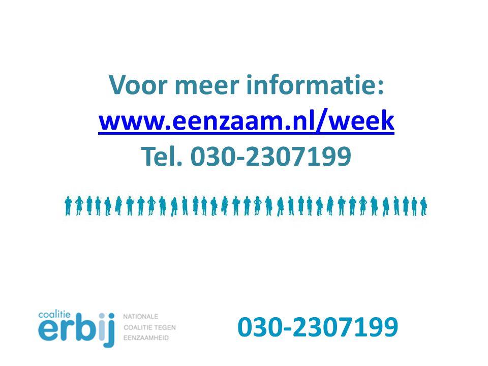 Voor meer informatie: www.eenzaam.nl/week
