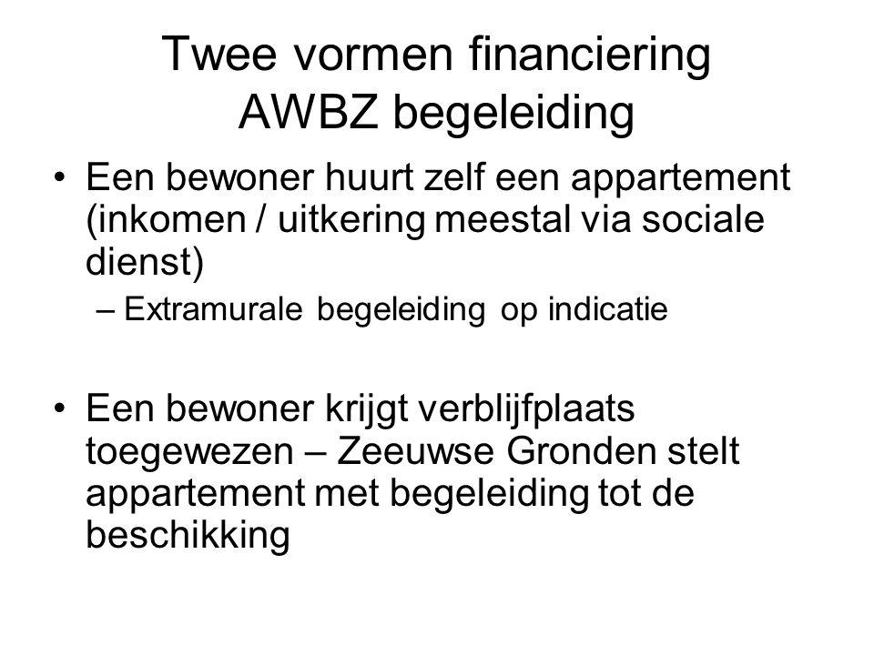 Twee vormen financiering AWBZ begeleiding