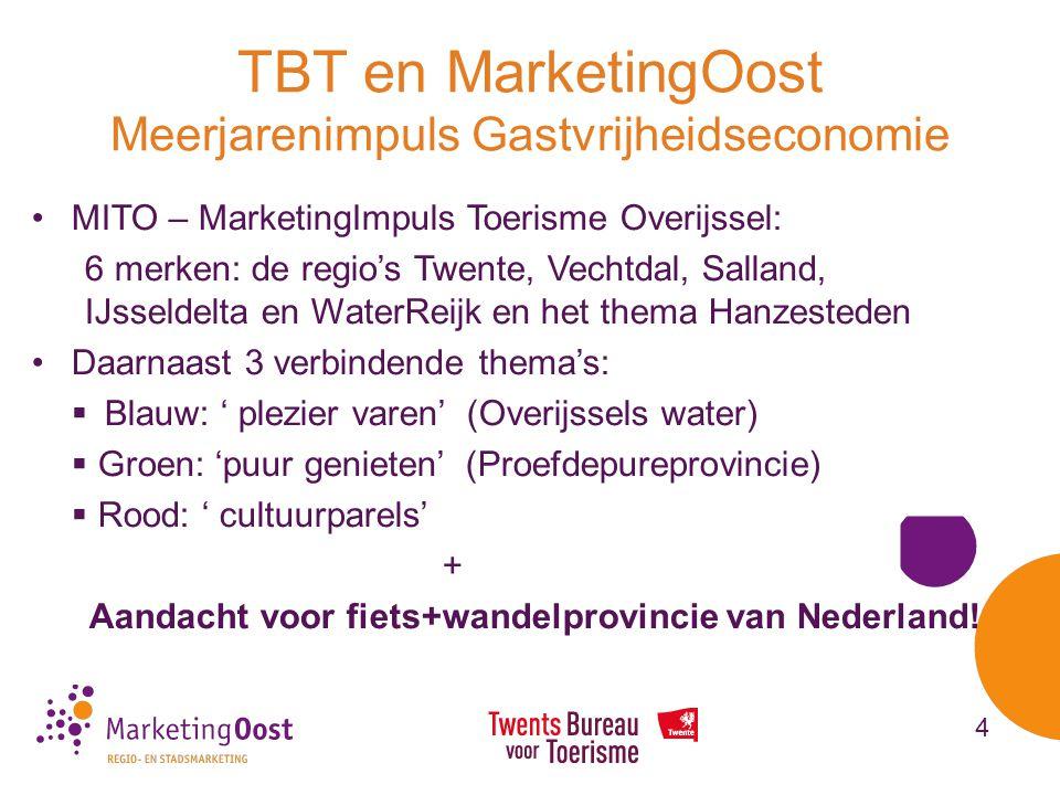 TBT en MarketingOost Meerjarenimpuls Gastvrijheidseconomie