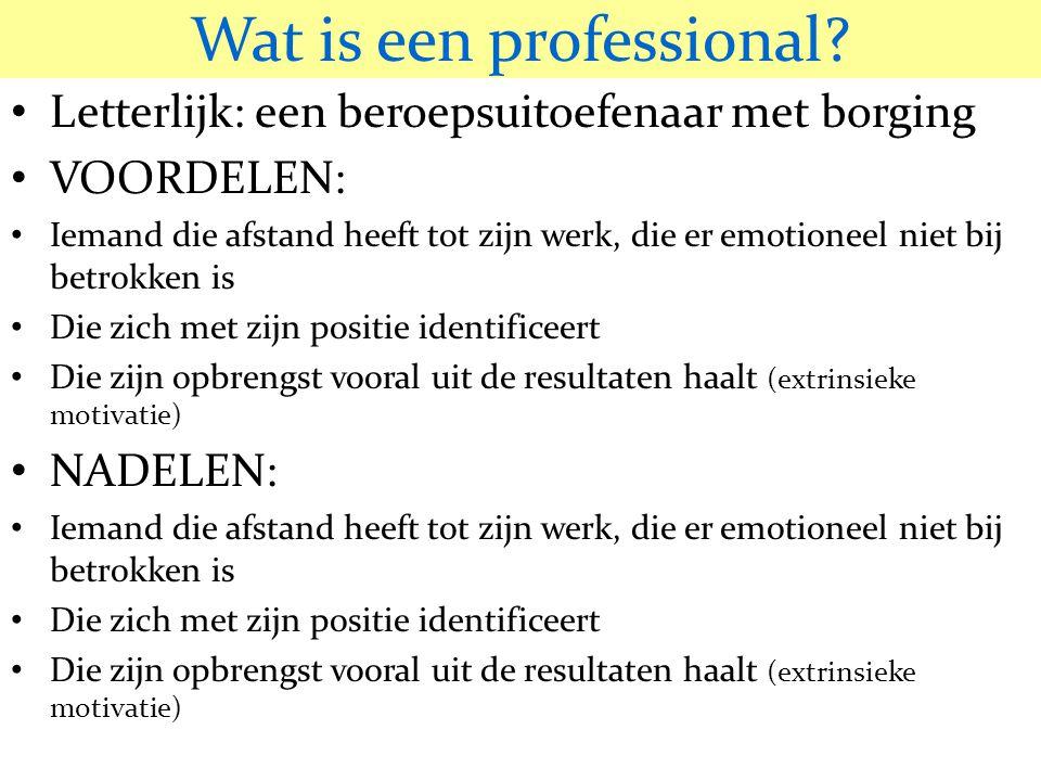 Wat is een professional