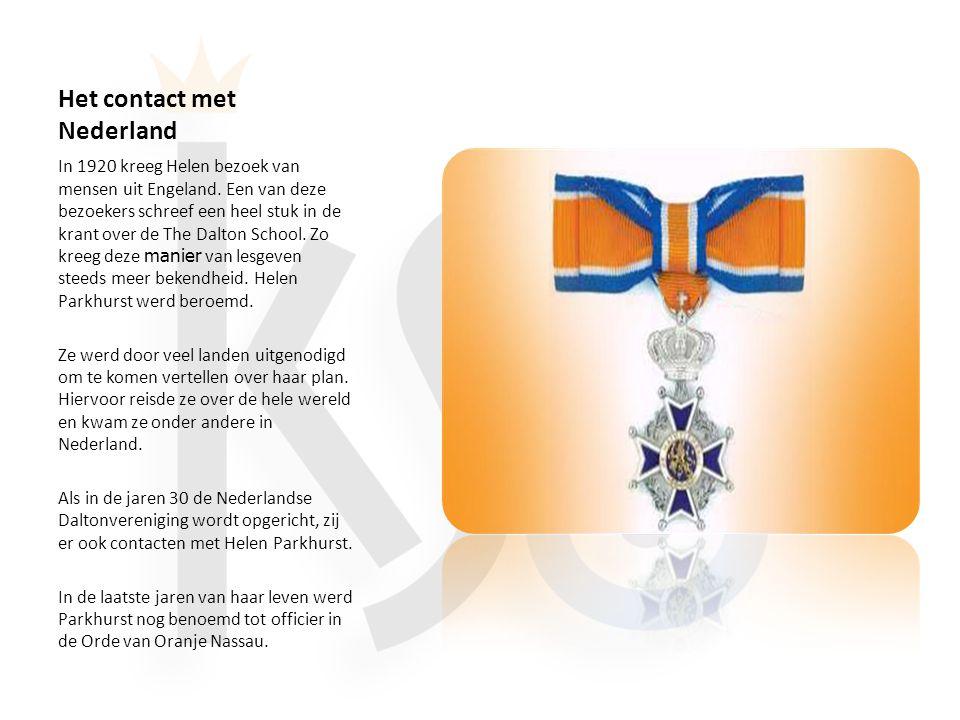 Het contact met Nederland