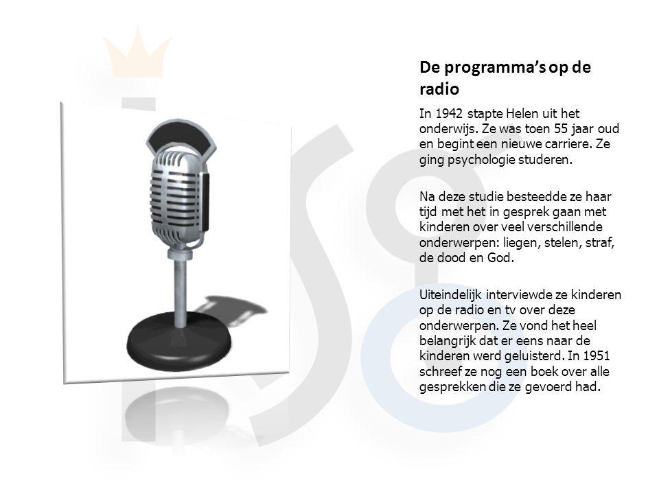 De programma's op de radio