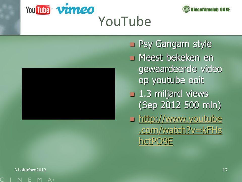 YouTube Psy Gangam style