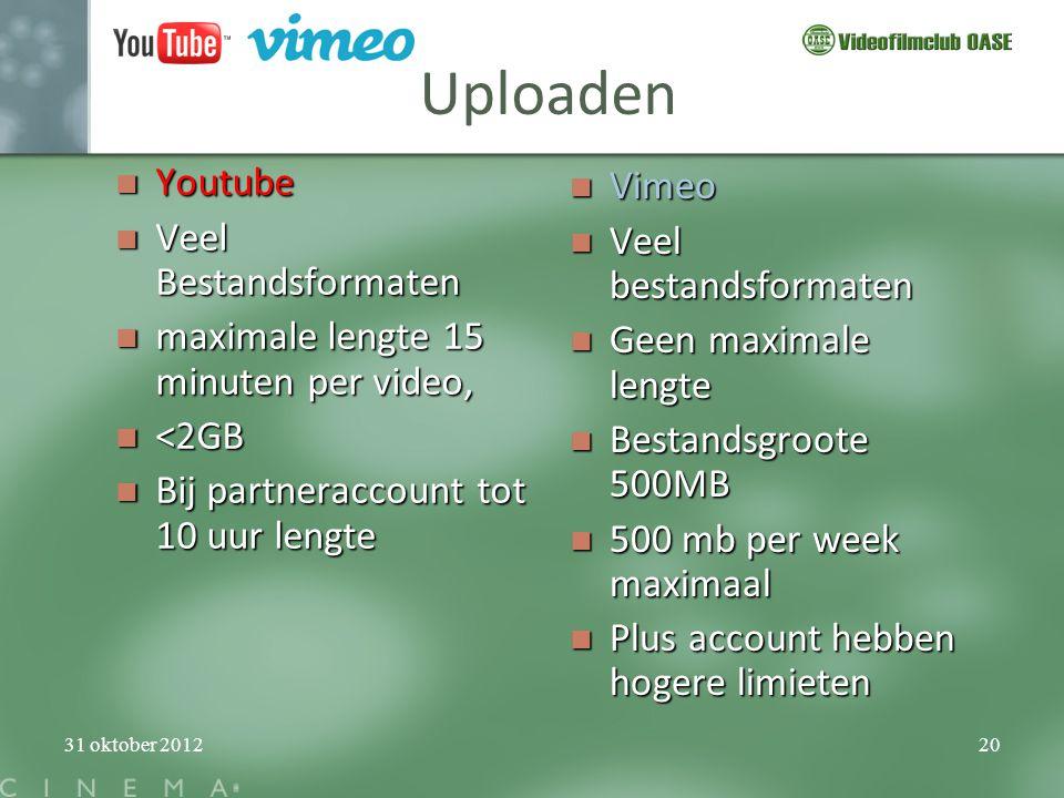 Uploaden Youtube Vimeo Veel Bestandsformaten Veel bestandsformaten