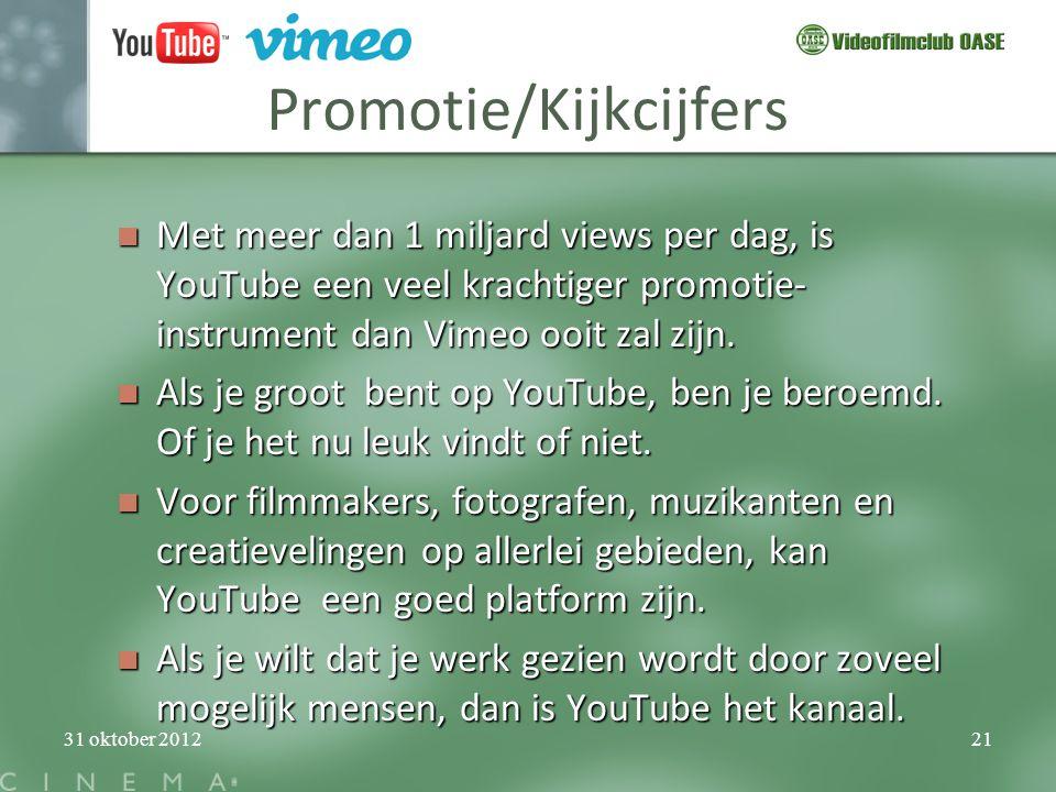 Promotie/Kijkcijfers