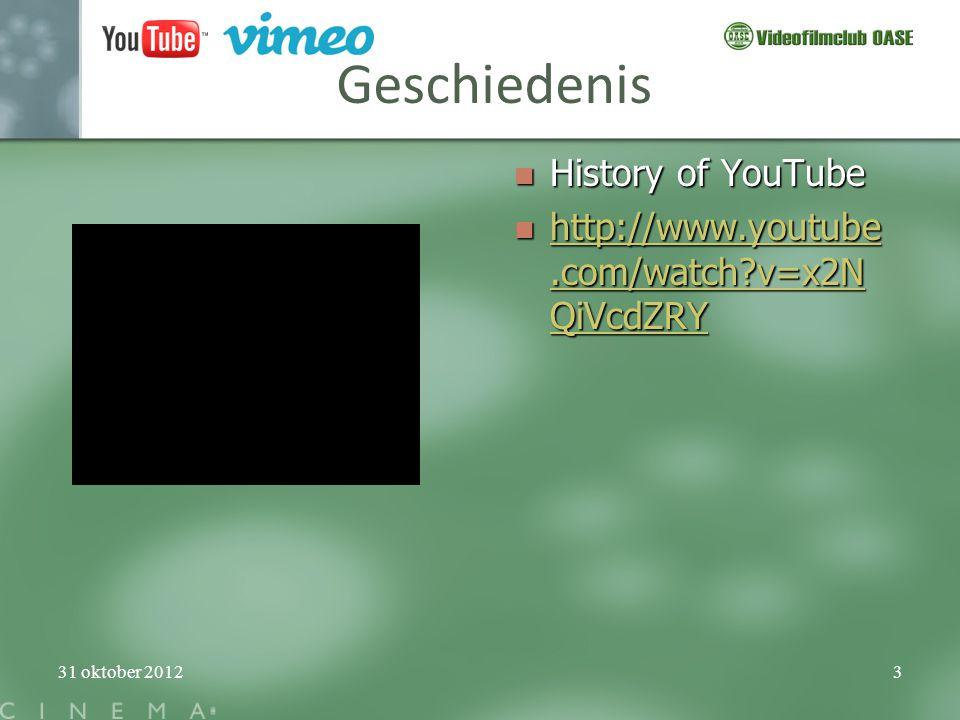 Geschiedenis History of YouTube