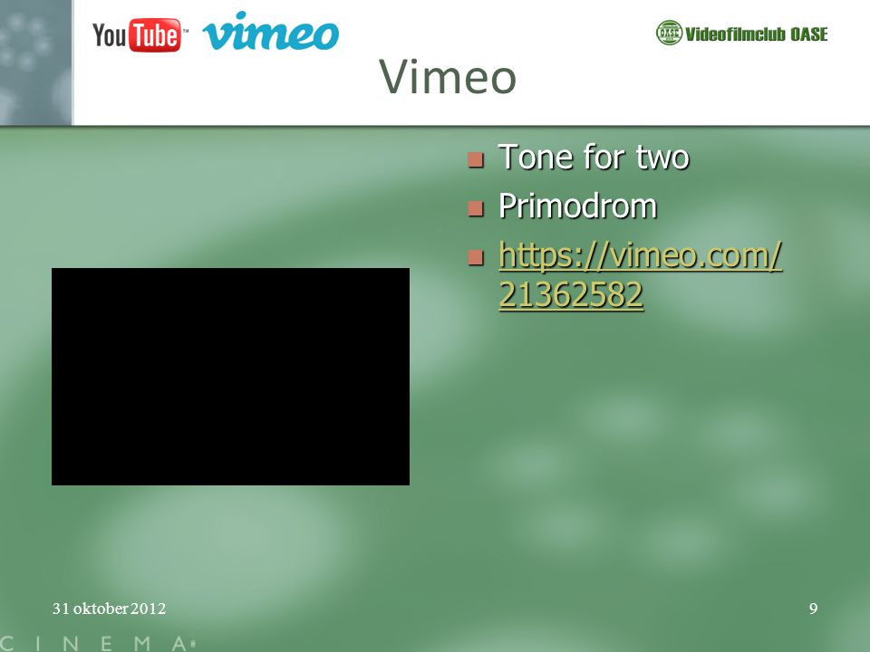 Vimeo Tone for two Primodrom https://vimeo.com/21362582