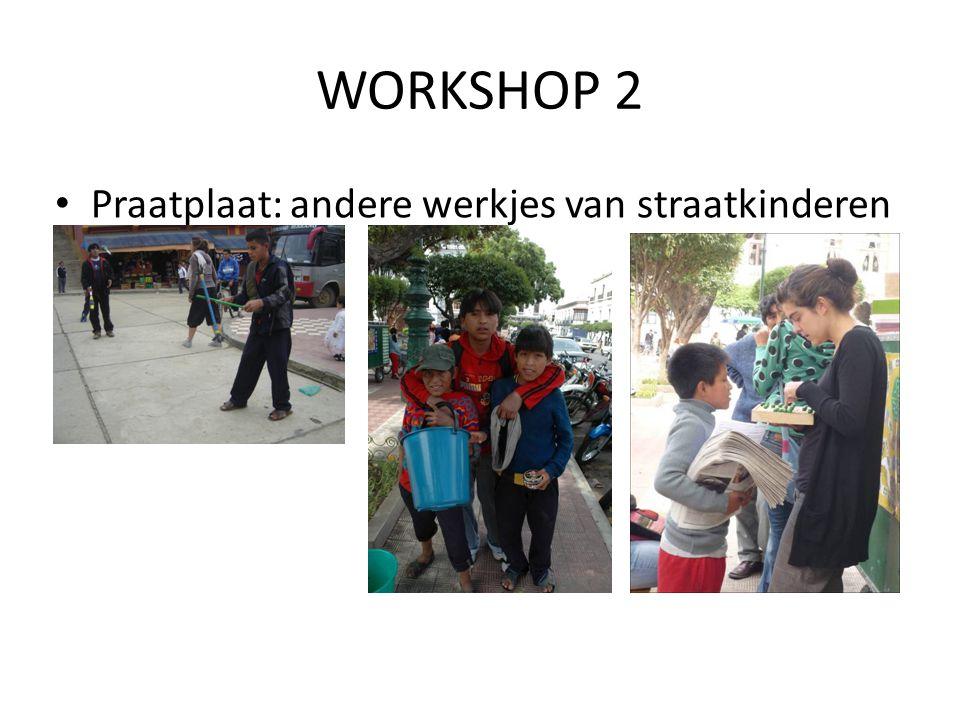 WORKSHOP 2 Praatplaat: andere werkjes van straatkinderen