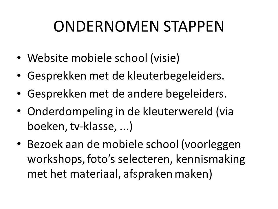 ONDERNOMEN STAPPEN Website mobiele school (visie)