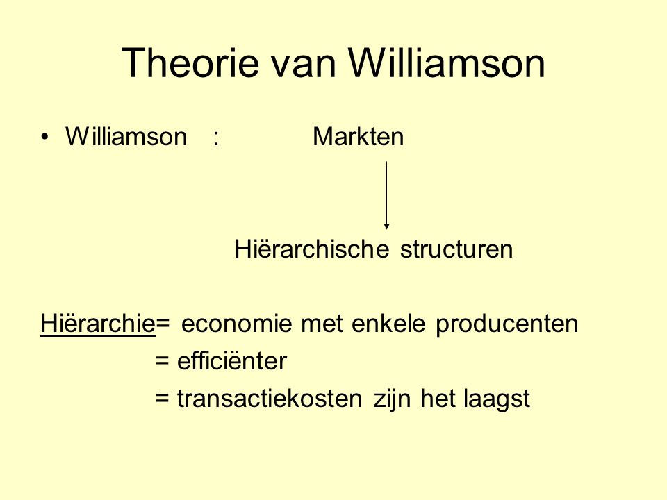 Theorie van Williamson