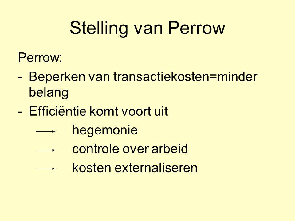 Stelling van Perrow Perrow: