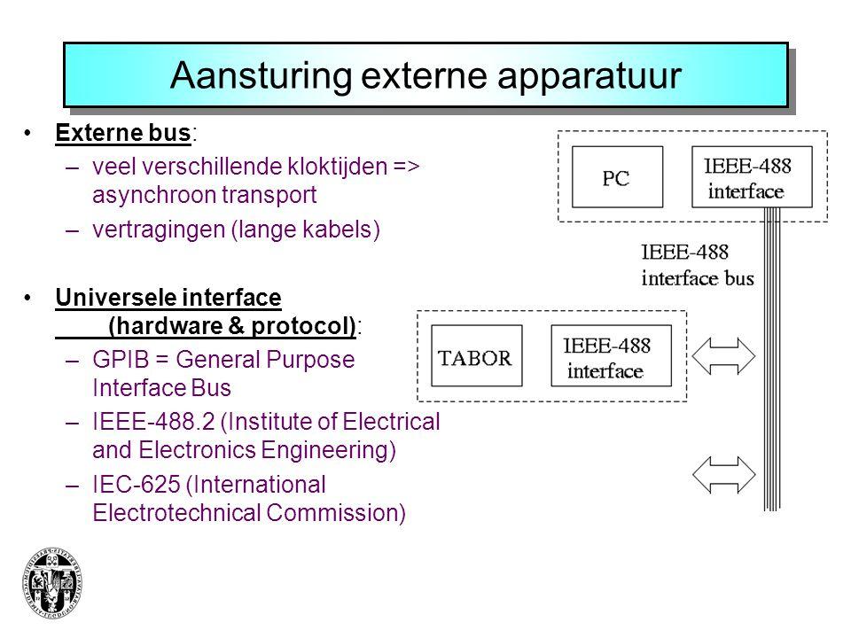 Aansturing externe apparatuur