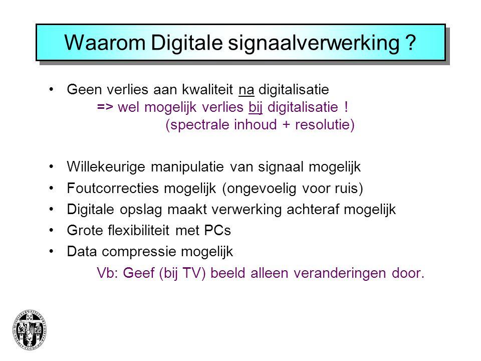 Waarom Digitale signaalverwerking