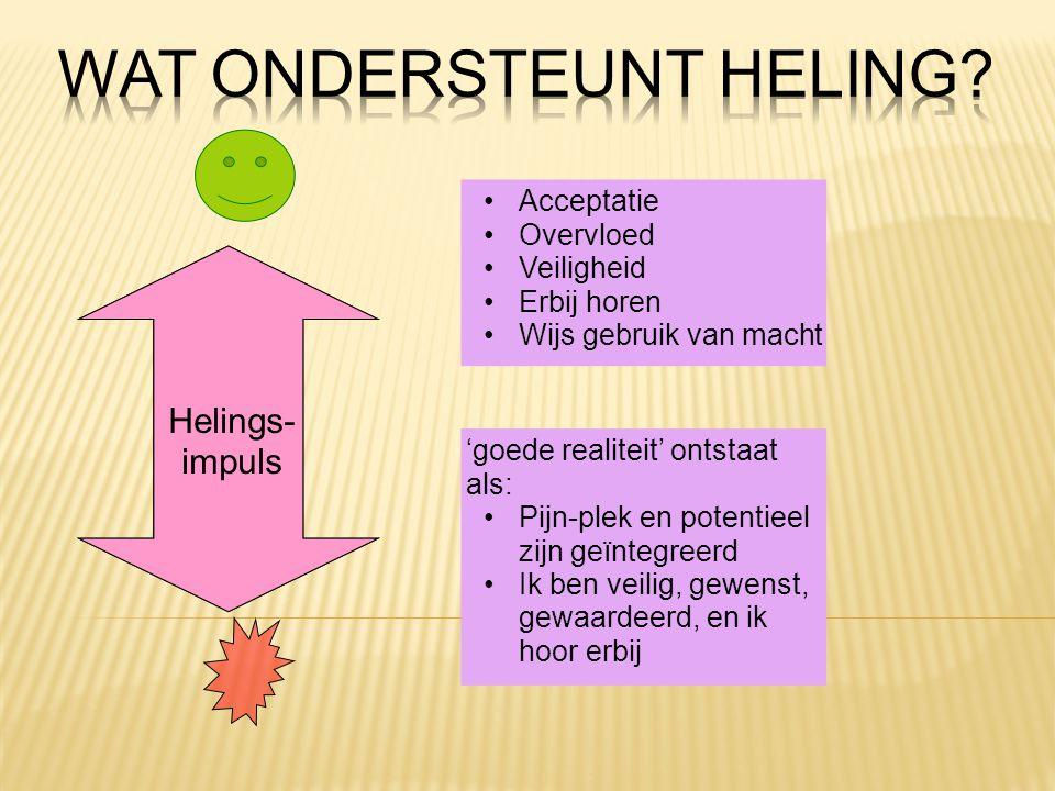Wat ondersteunt heling