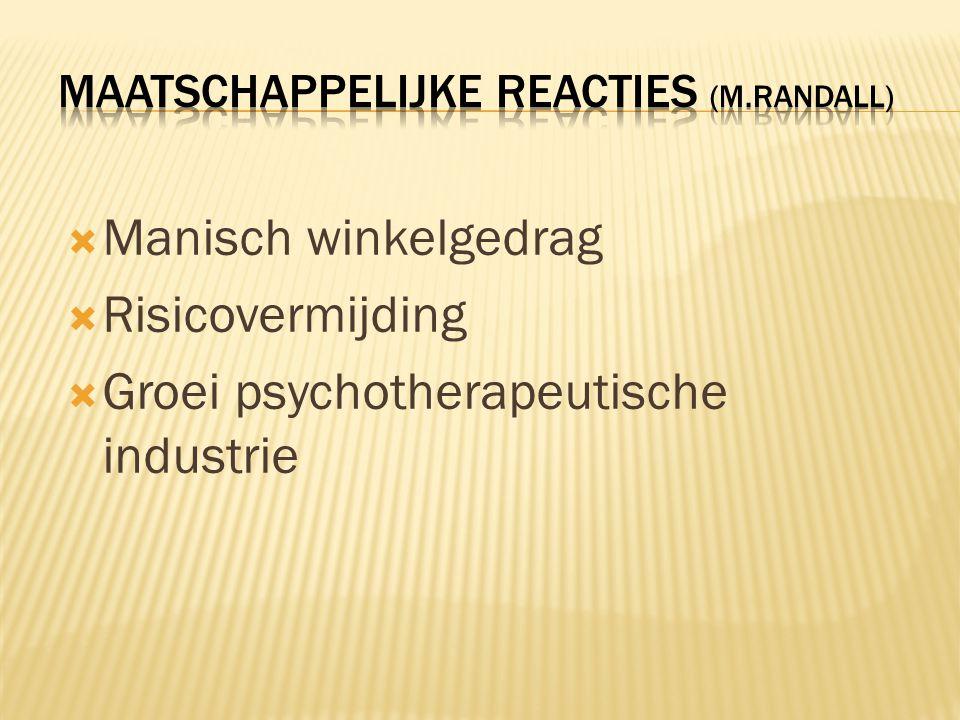 Maatschappelijke reacties (M.Randall)