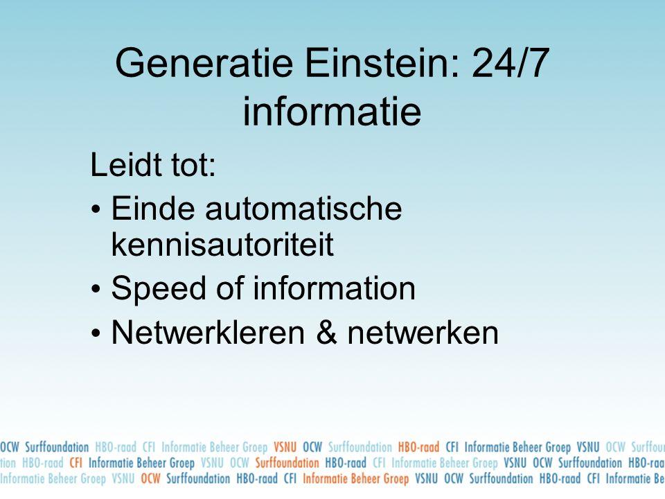 Generatie Einstein: 24/7 informatie