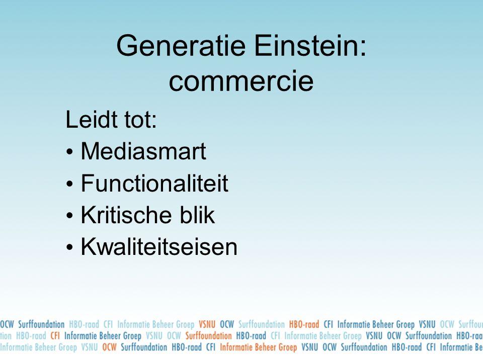 Generatie Einstein: commercie