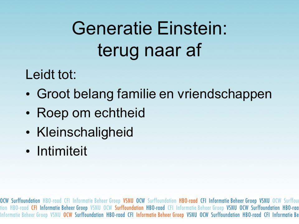 Generatie Einstein: terug naar af