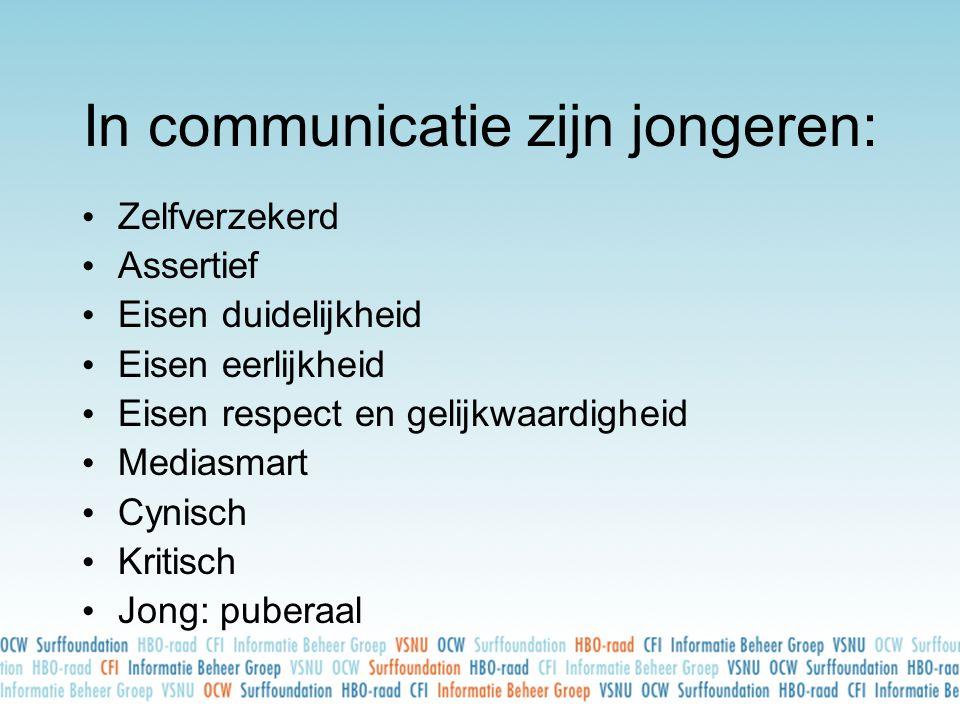 In communicatie zijn jongeren: