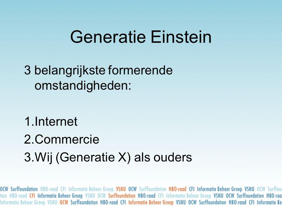 Generatie Einstein 3 belangrijkste formerende omstandigheden: Internet