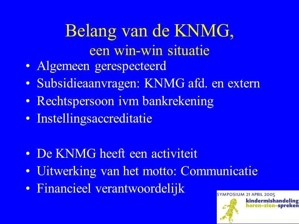 Belang van de KNMG, een win-win situatie