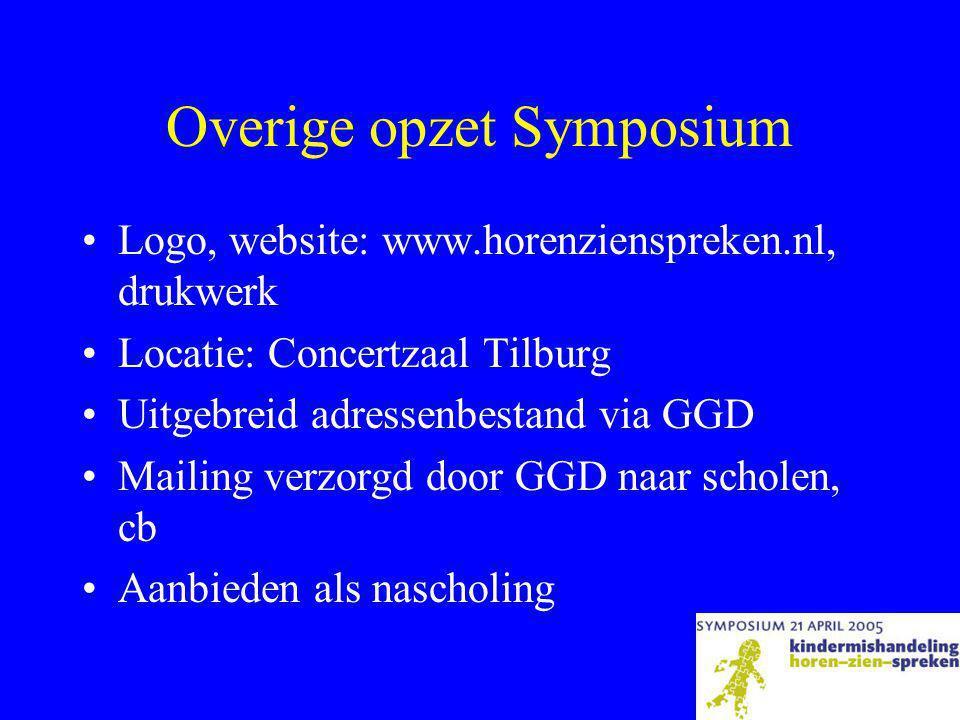 Overige opzet Symposium