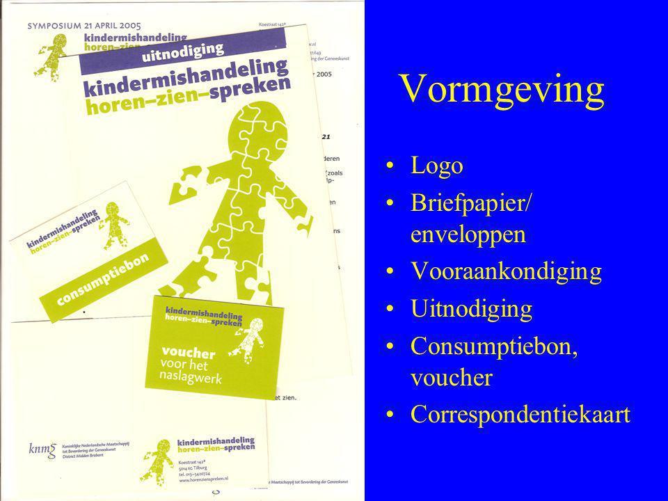 Vormgeving Logo Briefpapier/ enveloppen Vooraankondiging Uitnodiging
