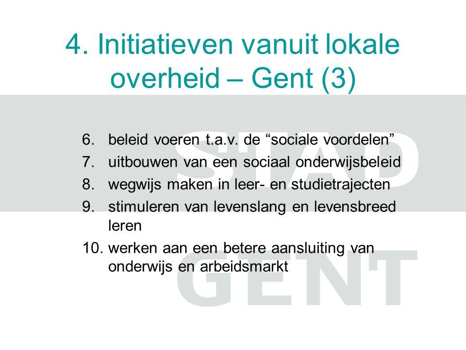 4. Initiatieven vanuit lokale overheid – Gent (3)