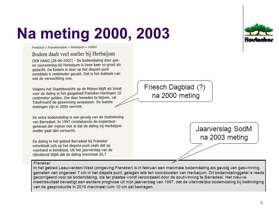 Na meting 2000, 2003 Friesch Dagblad ( ) na 2000 meting