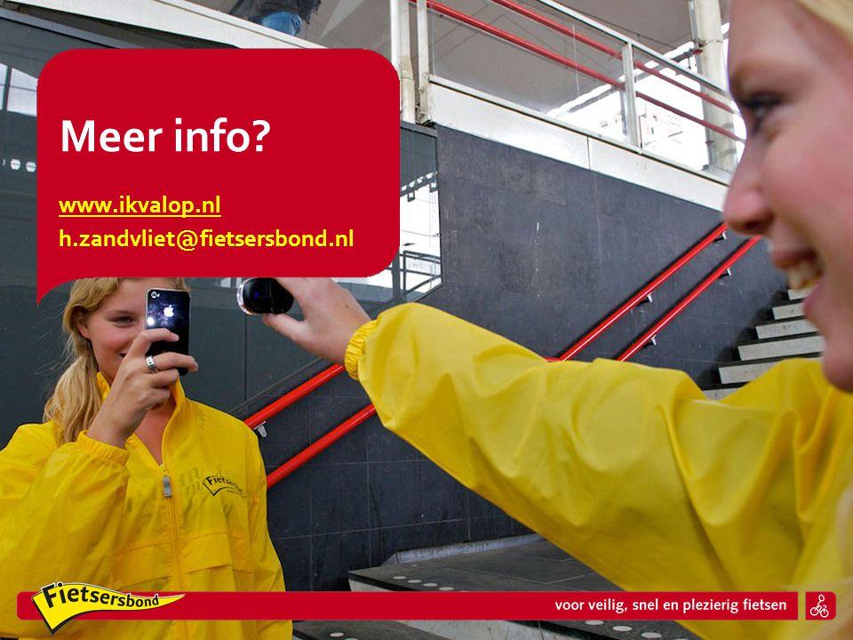 www.ikvalop.nl h.zandvliet@fietsersbond.nl