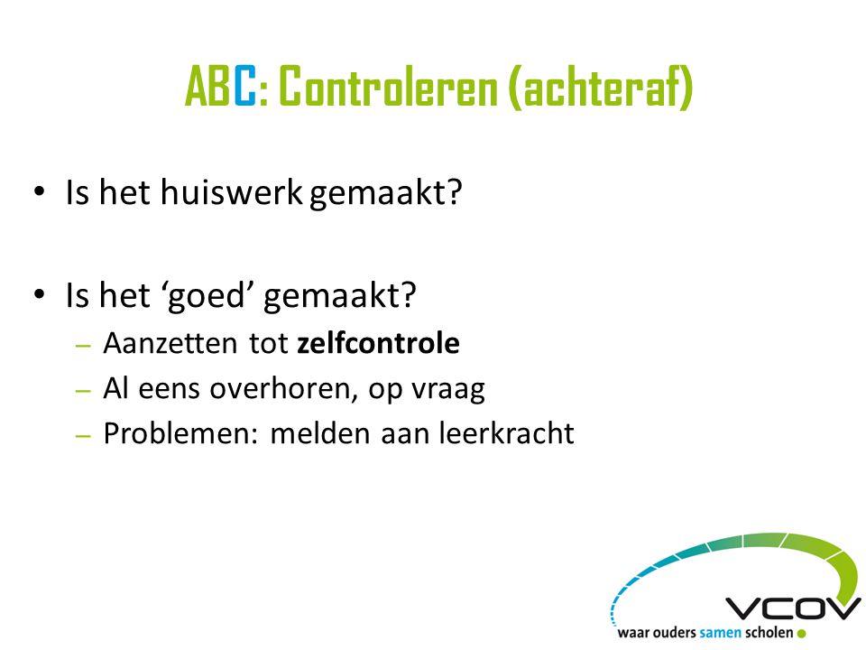 ABC: Controleren (achteraf)