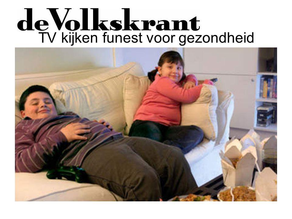 TV kijken funest voor gezondheid