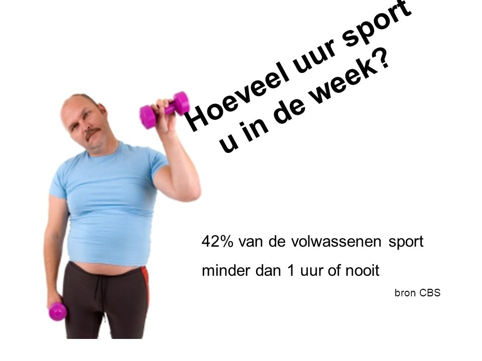 Hoeveel uur sport u in de week