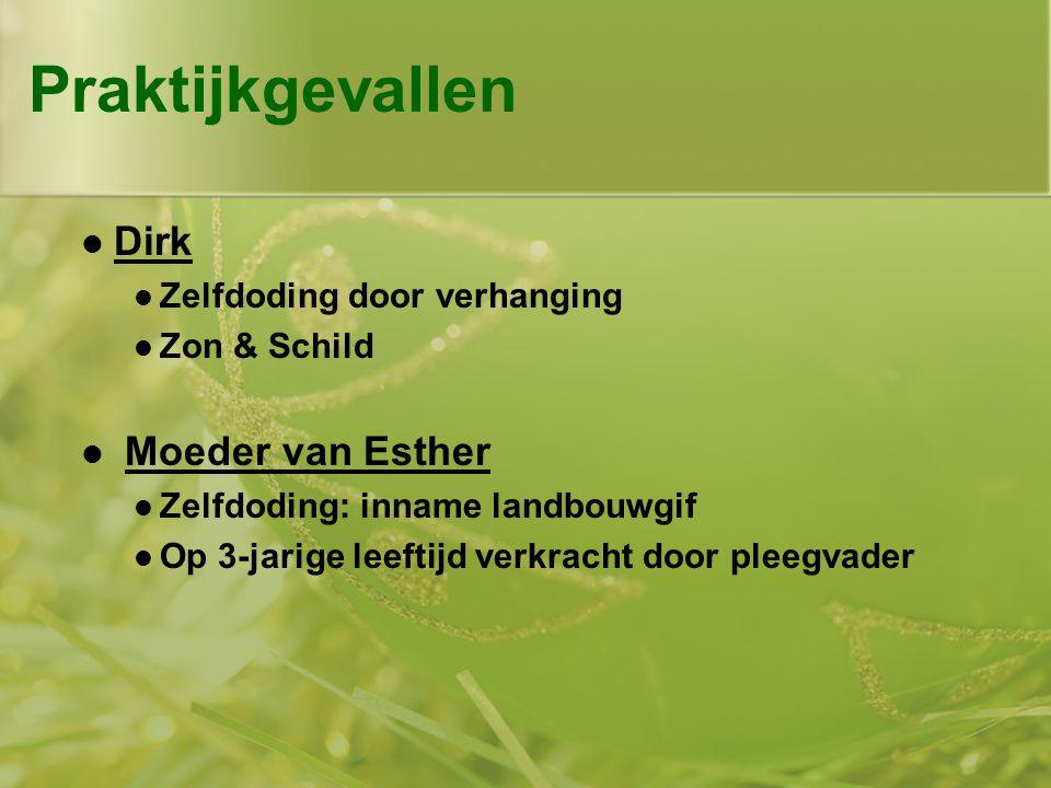 Praktijkgevallen Dirk Moeder van Esther Zelfdoding door verhanging
