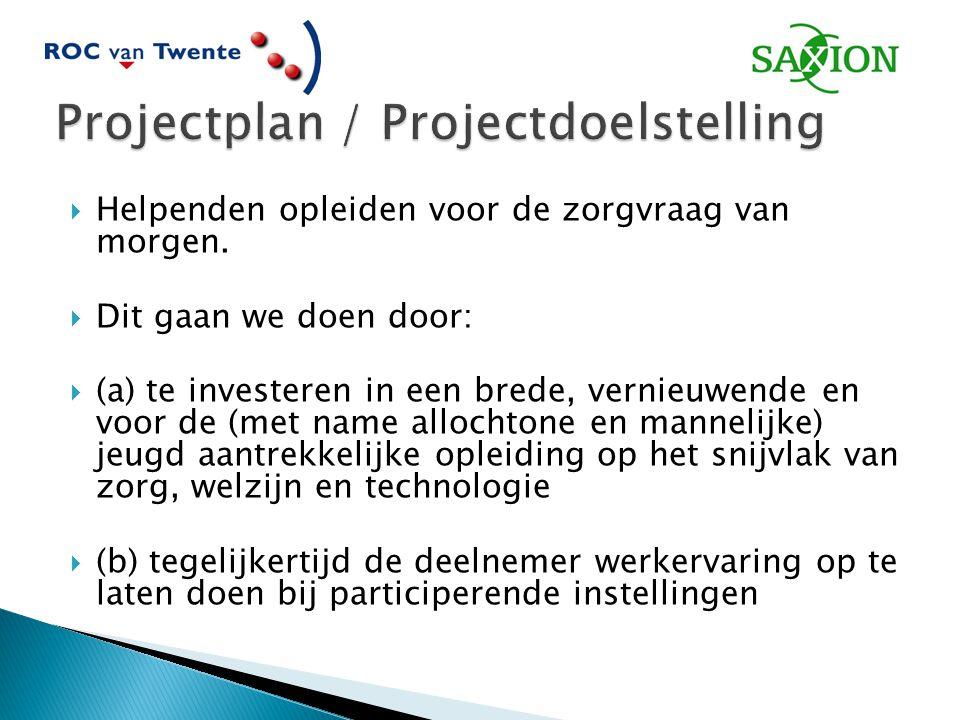 Projectplan / Projectdoelstelling
