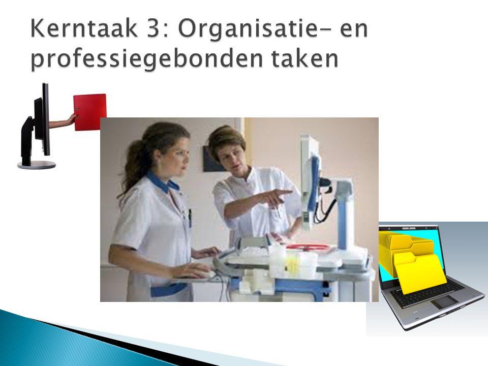 Kerntaak 3: Organisatie- en professiegebonden taken