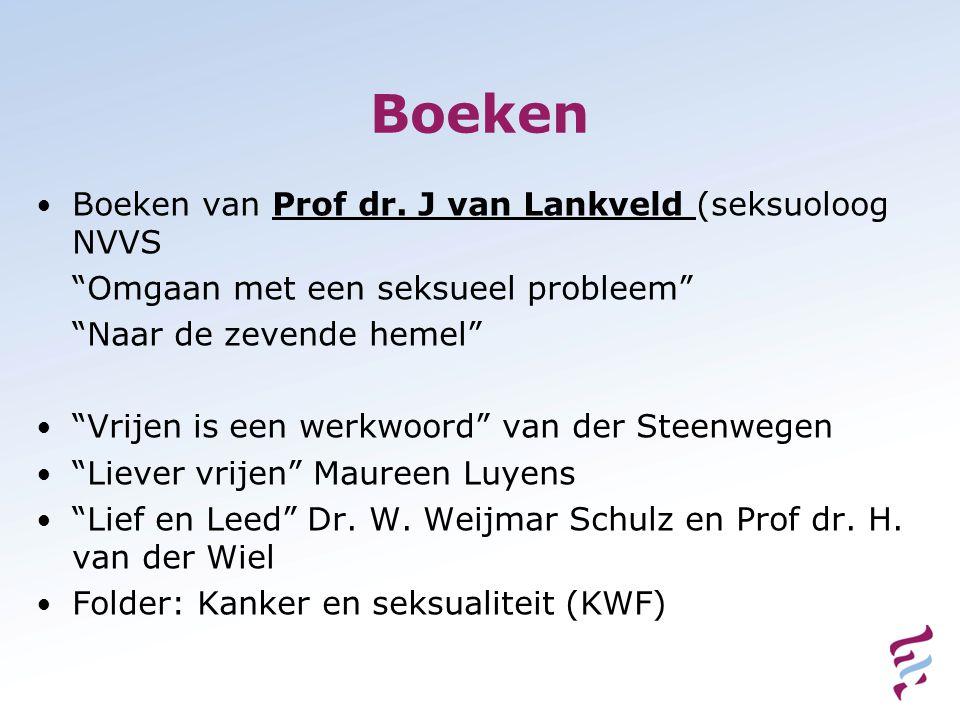 Boeken Boeken van Prof dr. J van Lankveld (seksuoloog NVVS