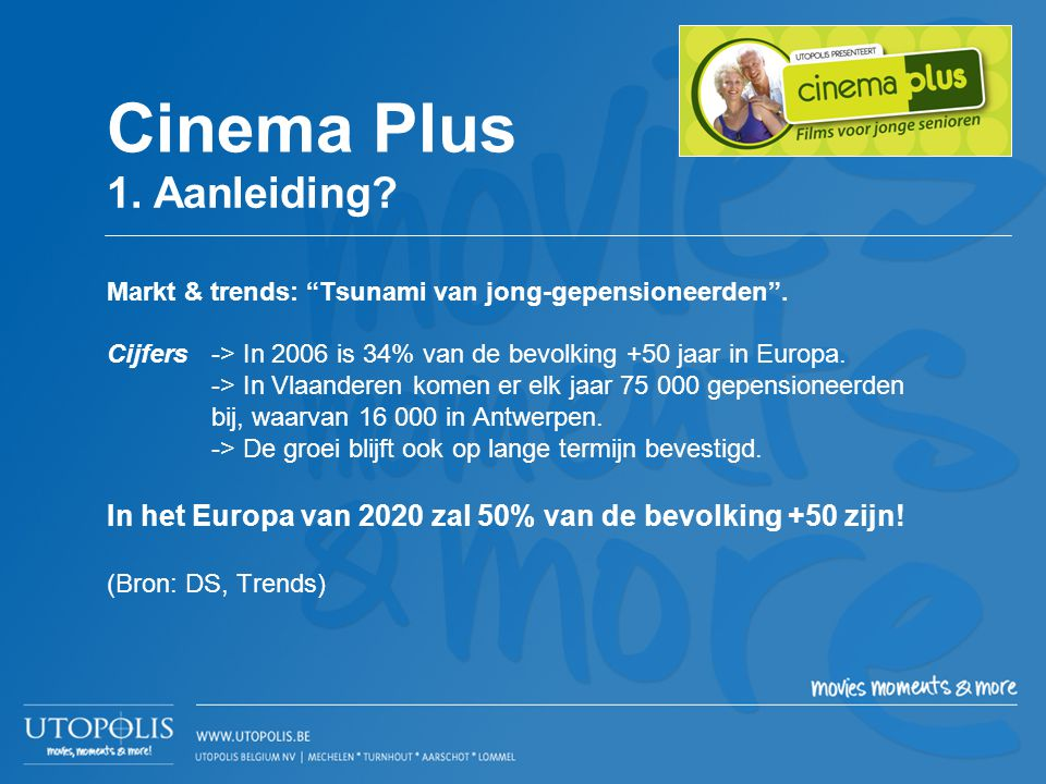 Cinema Plus 1. Aanleiding