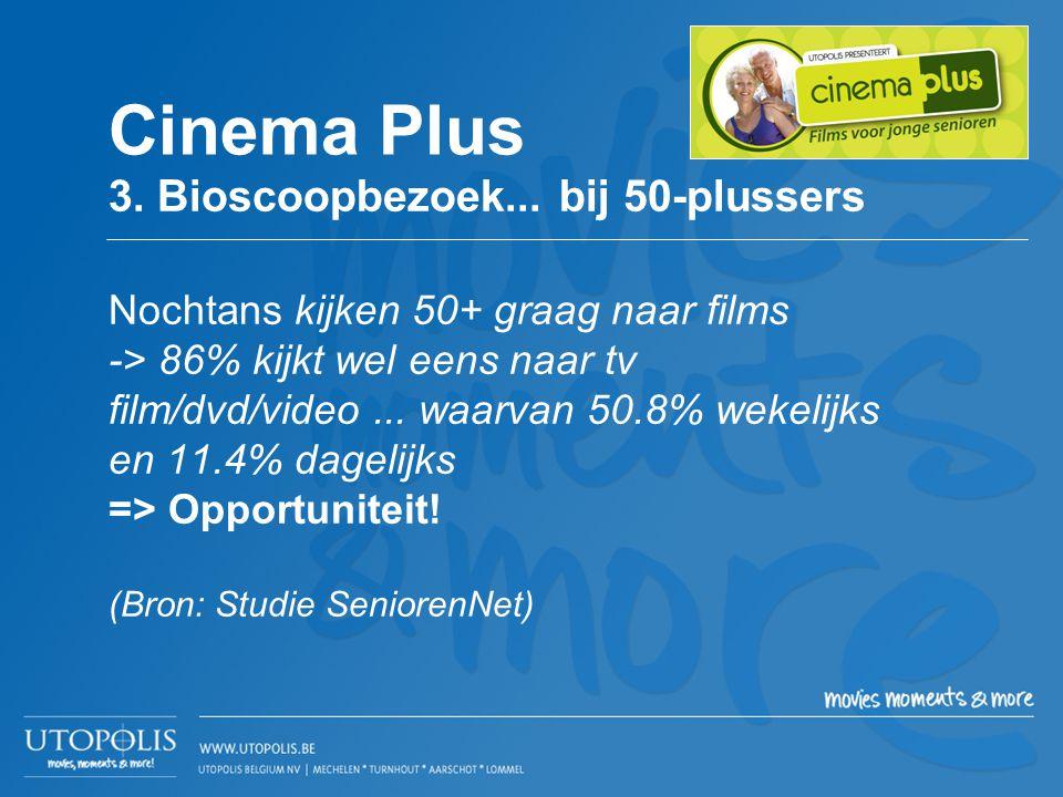 Cinema Plus 3. Bioscoopbezoek... bij 50-plussers