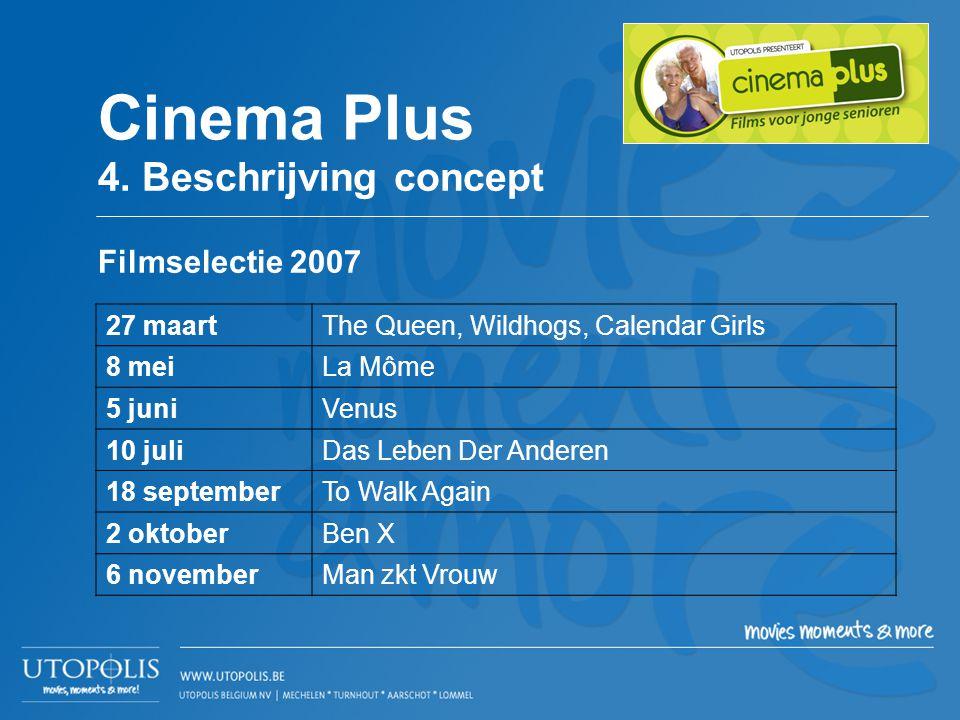 Cinema Plus 4. Beschrijving concept Filmselectie 2007 27 maart