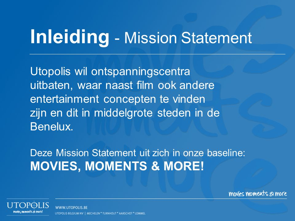 Inleiding - Mission Statement