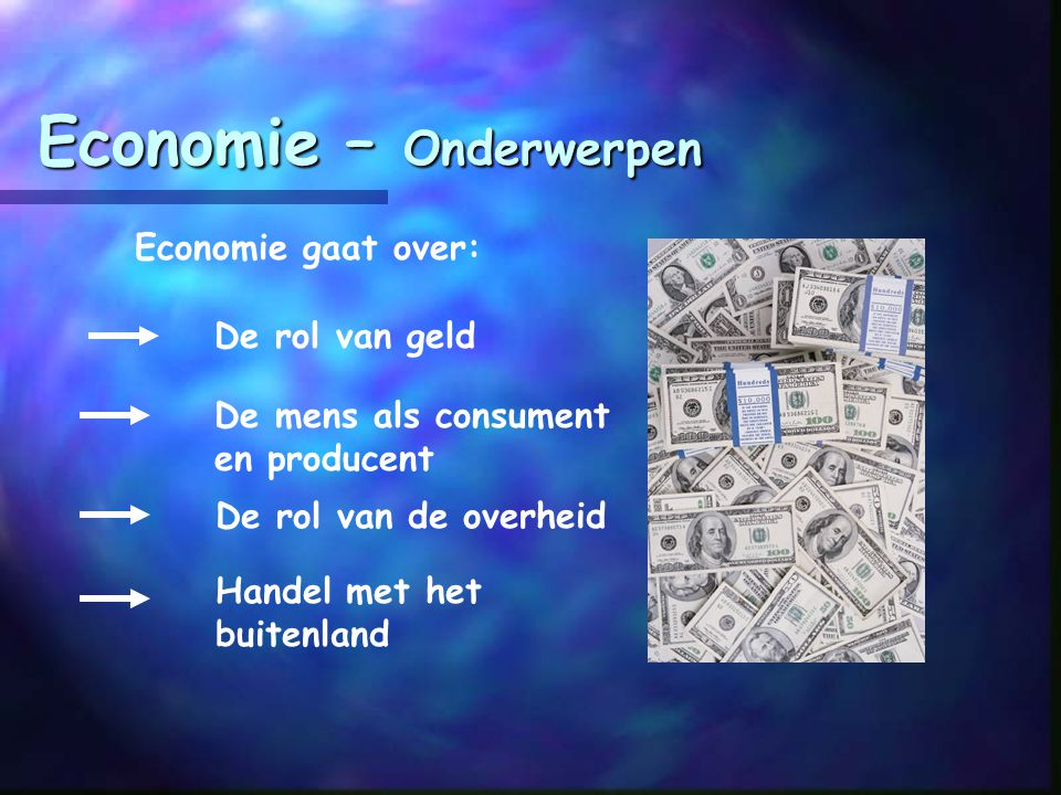 Economie – Onderwerpen